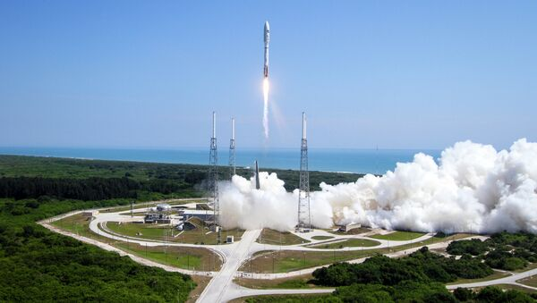 A ULA Atlas V rocket lifts off from Cape Canaveral Air Force Station in Cape Canaveral, Fla. on Wednesday, May 20, 2015. - Sputnik International
