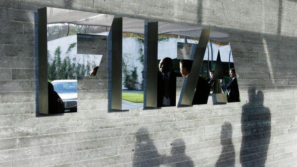 The FIFA logo at the headquarters Zurich, Switzerland - Sputnik International