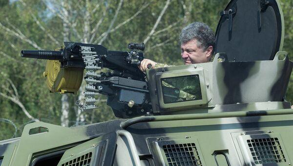 Petro Poroshenko visits First operational brigade of National Guard near Kiev - Sputnik International