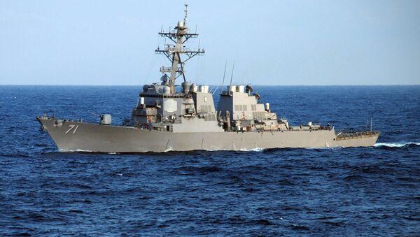Guided-missile destroyer USS Ross (DDG 71) crosses the Atlantic Ocean - Sputnik International