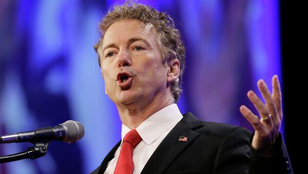 Republican presidential candidate Sen. Rand Paul speaks in Des Moines, Iowa - Sputnik International