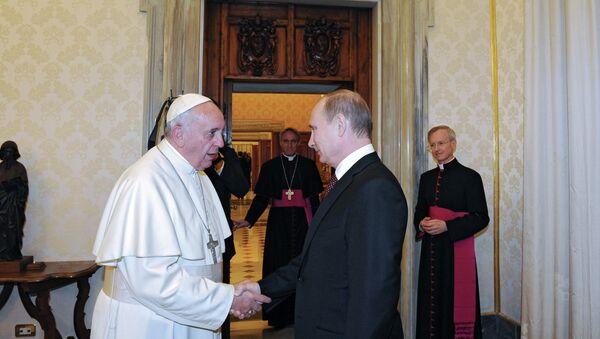 Vladimir Putin visits the Vatican - Sputnik International