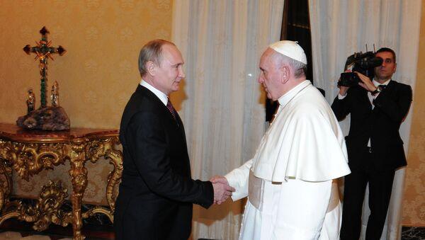 Vladimir Putin visits Vatican - Sputnik International