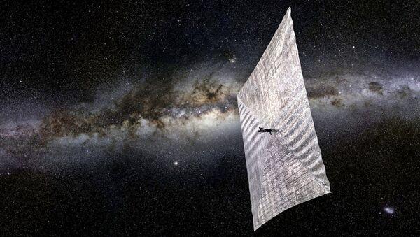 Artist's concept of LightSail 2 above Earth. - Sputnik International