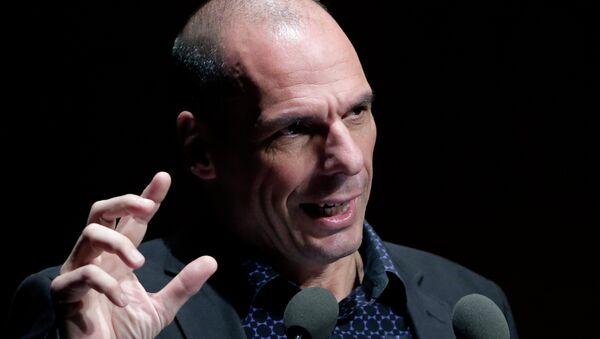 Greek Finance Minister Yanis Varoufakis gives a speech during an Financial conference in Athens, on Tuesday, May 19, 2015 - Sputnik International