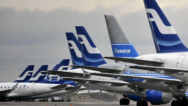 Finnair planes are grounded at Helsinki airport on November 16, 2009 - Sputnik International