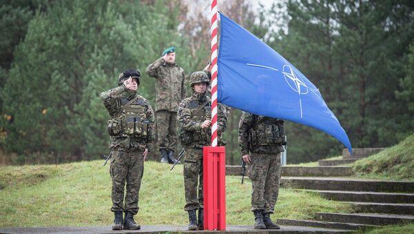 Poland-  NATO flag is raised - Sputnik International