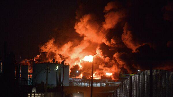 Fire on oil depot near Kiev - Sputnik International