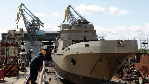 Landing craft Ivan Gren at Yantar Shipyard - Sputnik International