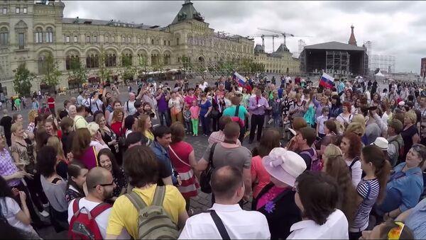 Russia Day flashmob - Sputnik International