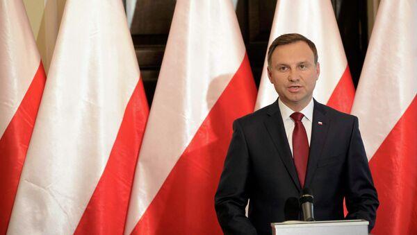 President-elect Andrzej Duda speaks during a press conference in Warsaw, Poland June 11, 2015 - Sputnik International