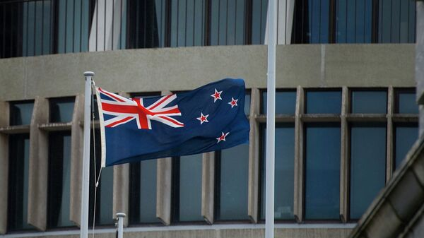 The New Zealand flag flutters outside Parliament buildings in Wellington in Wellington on October 29, 2014 - Sputnik International