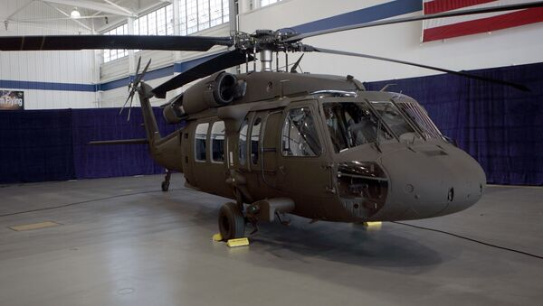 The latest version of the Sikorsky UH-60M Black Hawk helicopter is seen at the Sikorsky Aircraft plant in Stratford, Conn., Monday, July 31, 2006 - Sputnik International