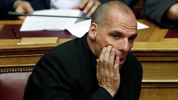 Greece's Finance Minister Yanis Varoufakis attends an emergency Parliament session in Athens, on Friday, June 5, 2015 - Sputnik International