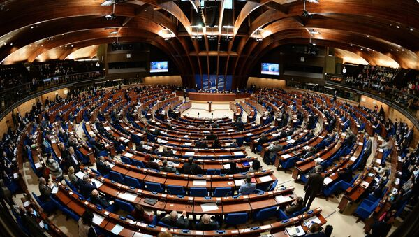 Delegates at a plenary meeting of the Parliamentary Assembly of the Council of Europe - Sputnik International