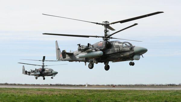Ka-52 Alligator multi-purpose all-weather helicopters - Sputnik International