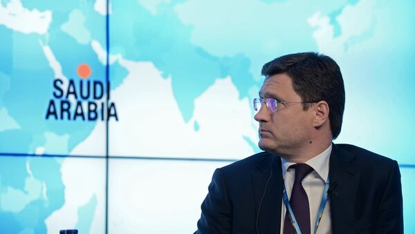 Alexander Novak, Minister of Energy of the Russian Federation, during the Bloomberg Teledebates Shifting Landscape Ushers In A New Era For Global Oil And Gas Markets held at the 2015 St. Petersburg International Economic Forum - Sputnik International