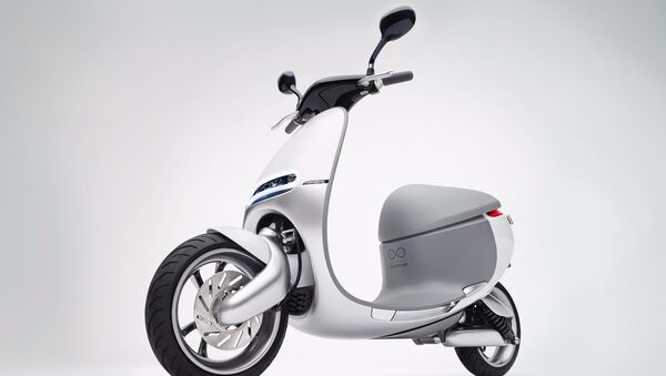 The Smartscooter, made by the Taiwan-based company Gogoro - Sputnik International