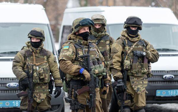 Servicemen of police units and the National Guard of Ukraine - Sputnik International