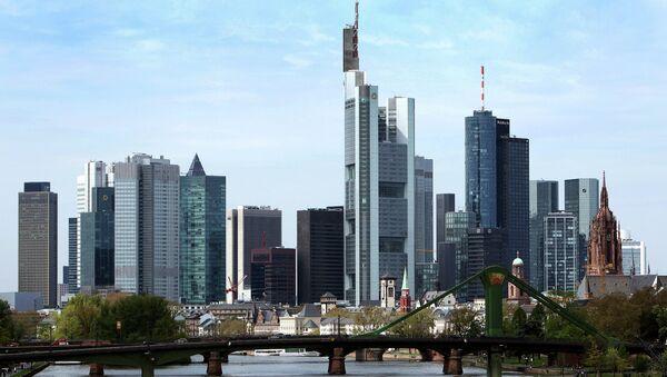 The skyline of Frankfurt am Main, central Germany - Sputnik International