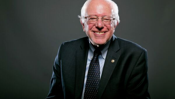 Democratic Presidential candidate Sen. Bernie Sanders, I-Vt., poses for a portrait before an interview, Wednesday May 20, 2015, in Washington. - Sputnik International