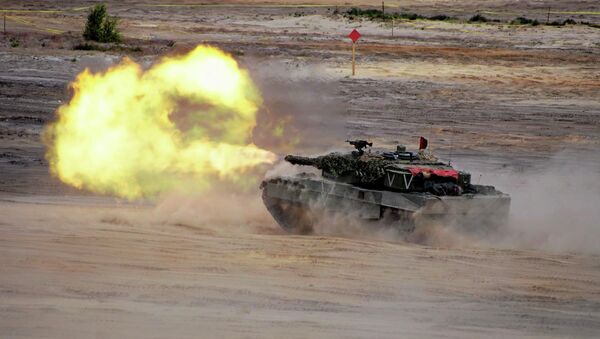 Units from NATO allied countries take part in the NATO Noble Jump 2015 exercises, part of testing and refinement of the Very High Readiness Joint Task Force (VJTF) in Swietoszow, Poland June 18, 2015 - Sputnik International