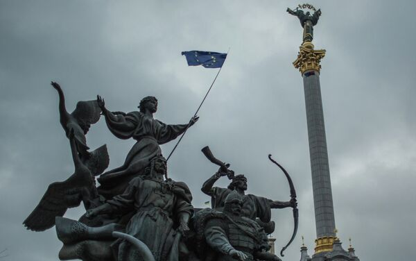 Rally to support Ukraine's integration with Europe on Independence Square, Kiev. (File photo) - Sputnik International