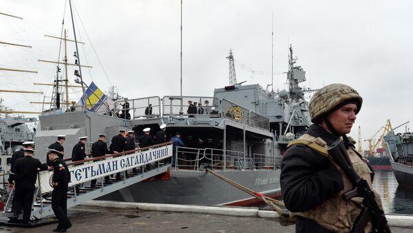 Equipment on the Hetman Sahaydachniy frigate, the flagship of the Ukrainian Navy, is old and most of it doesn't even work, said Yuri Biryukov, a senior adviser to Ukrainian President Petro Poroshenko. - Sputnik International