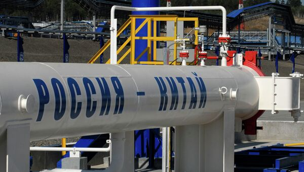 Oil pipe section from Russia to Chinese border launched - Sputnik International