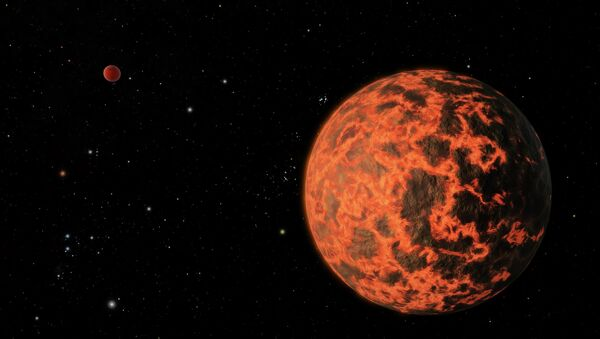 Exoplanet is Extremely Hot and Incredibly Close (Artist's Concept) - Sputnik International