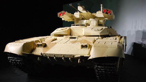 Tank support fire fighting vehicle Terminator-2 - Sputnik International