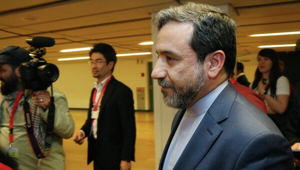 Iran's deputy Foreign Minister Abbas Araghchi arrives for a press briefing for Iranian journalists after the closed-door nuclear talks at the International Center in Vienna, Austria, Friday, May 16, 2014 - Sputnik International
