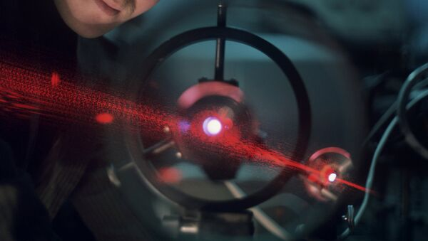 Laser at Institute of Applied Physics, Russian Academy of Sciences. - Sputnik International