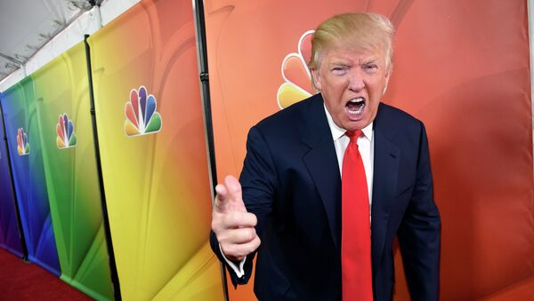 NBC Universal announced Monday it is ending its business relationship with real estate magnate and television host Donald Trump over recent derogatory statements he made about immigrants in a speech launching his 2016 presidential campaign. - Sputnik International