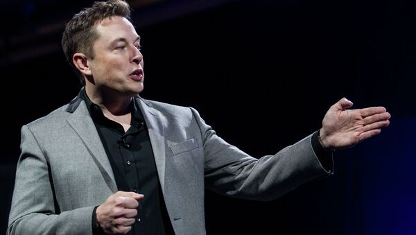 Elon Musk, CEO of Tesla Motors Inc., unveils the company's newest products, Powerwall and Powerpack in Hawthorne, Calif. - Sputnik International
