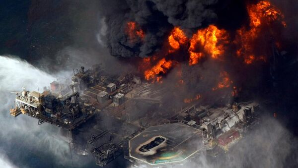 The 2010 disaster at BP's Deepwater Horizon oil rig caused devastating pollution in the Gulf of Mexico - Sputnik International