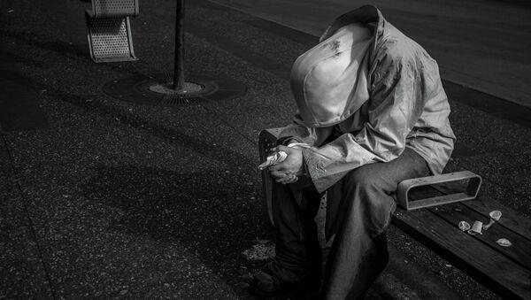 A homeless man in Canada - Sputnik International