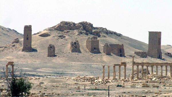 This file photo released on Sunday, May 17, 2015, by the Syrian official news agency SANA, shows the general view of the ancient Roman city of Palmyra, northeast of Damascus, Syria - Sputnik International