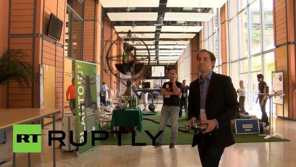 Possibly the world's first collision tolerant flying robot. - Sputnik International