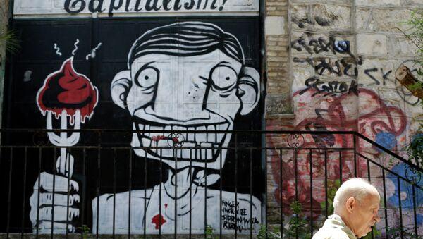 A graffiti in Athens, Tuesday, July 7, 2015. - Sputnik International