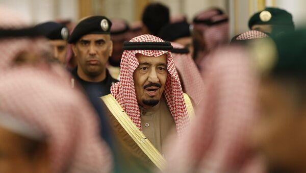 Saudi Arabia's King Salman attends a ceremony at the Diwan royal palace in Riyadh. - Sputnik International