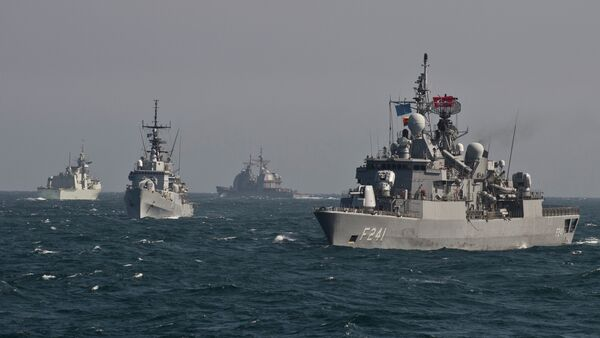 War ships of the NATO take part in a military drill on the Black Sea - Sputnik International