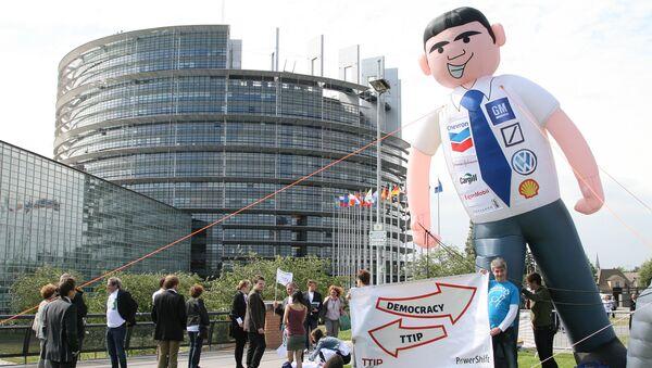 Anti-TTIP protest - Sputnik International