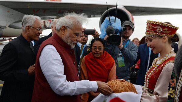 Prime Minister of the Republic of India Narendra Modi arrives in Ufa - Sputnik International