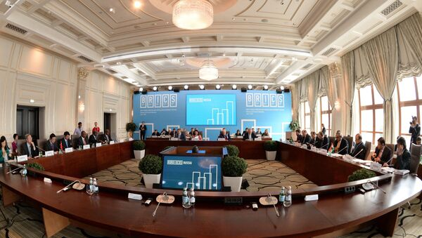 Participants in the BRICS Finance Ministers and Central Bank Governors' Meeting, Meeting of the Board of Governors of the BRICS New Development Bank - Sputnik International