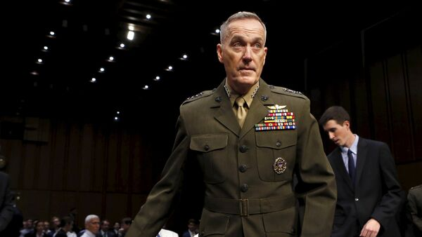 Marine Corps Gen. Joseph Dunford arrives at the Senate Armed Services committee nomination hearing to be chairman of the Joint Chiefs of Staff on Capitol Hill in Washington July 9, 2015 - Sputnik International