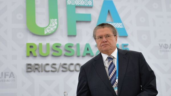 Minister of Economic Development of Russia Alexei Ulyukaev at his briefing The Prospects of Economic Cooperation with Regards to BRICS and the SCO - Sputnik International