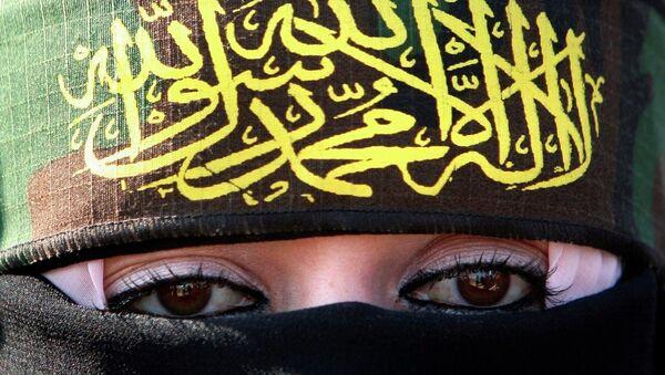 A woman supporting Islamic Jihad - Sputnik International