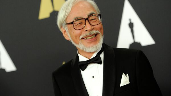 Hayao Miyazaki arrives at the 6th annual Governors Awards at the Hollywood and Highland Center on Saturday, Nov. 8, 2014 in Los Angeles. - Sputnik International