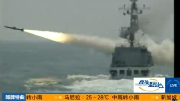 Launch of YJ-18 missile - Sputnik International